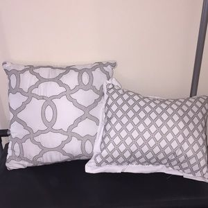 White and Gray throw pillows